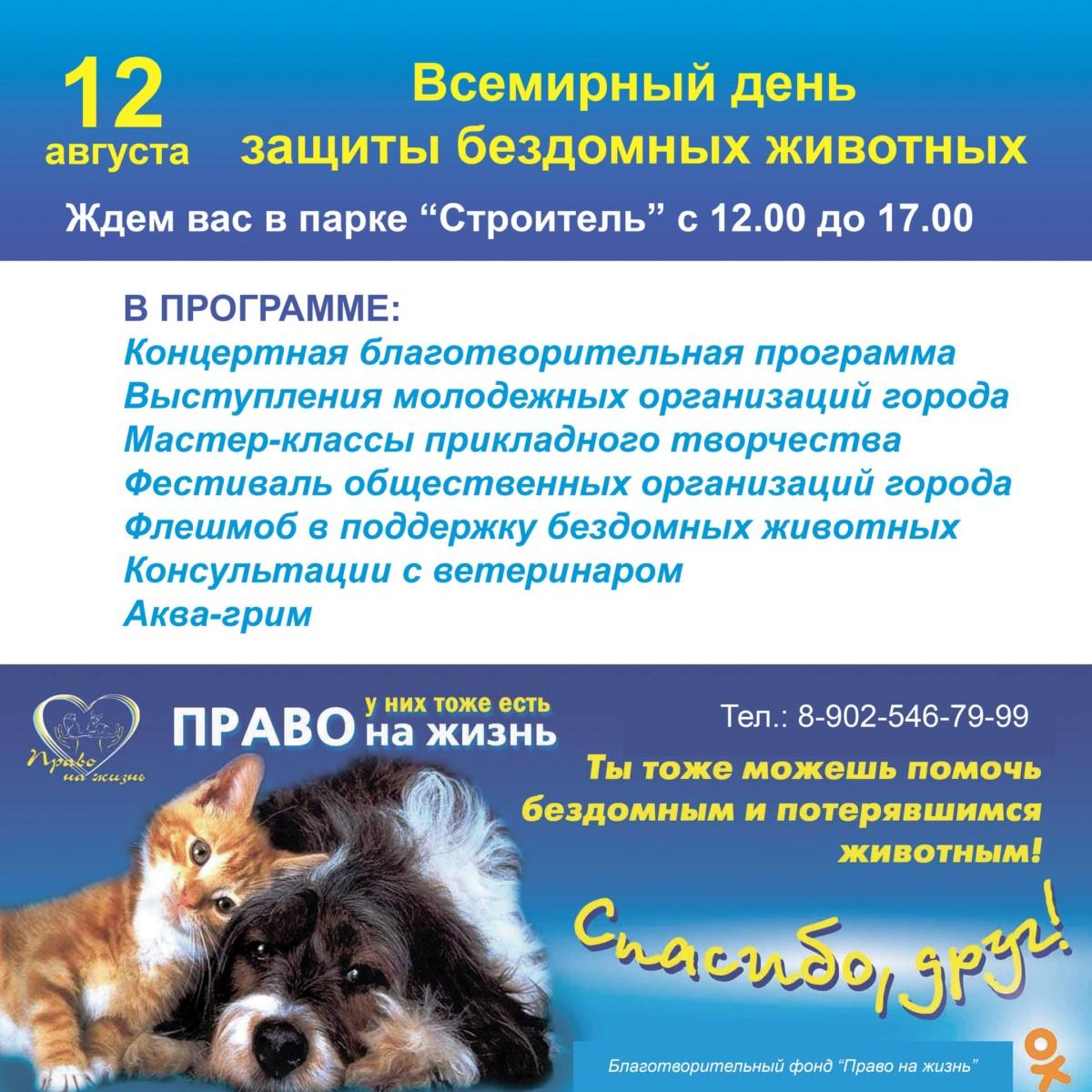 Всемирный день защиты бездомных животных в Ангарске