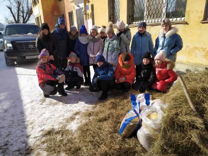 ребята 5А класса из 7 школы с классным руководителем Александрой Ивановной.